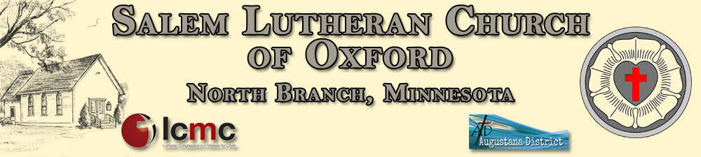 graphic of Salem Lutheran Church of Oxford heading information